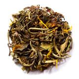 White organic ginger orange peach tea