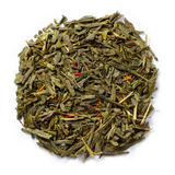 Organic cherry green tea with the addition of organic green tea and organic safflower