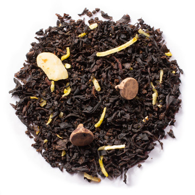 Midnight Choco Loco Blend Of Black tea, Shredded Coconut, Almond Slices and Chocolate Pieces