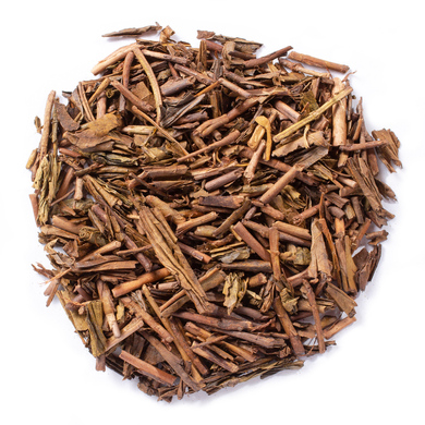 Houjicha Roasted Green Tea rich in  amber colored liquor and nutty earthy aroma