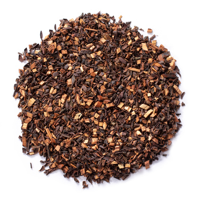 Organic Honey Bush Loose leaf  full-bodied tea with a rich reddish-brown liquor