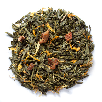 Light flavor pure organic peach green tea