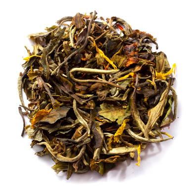 Pure organic ginger orange peach tea