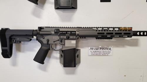 "50 Cal AR Pistol 10.5"" Tactical  Grey"