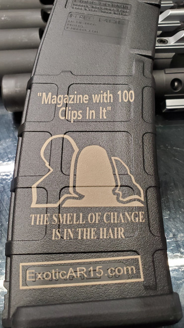 """MAGAZINE WITH 100 CLIPS IN IT"""