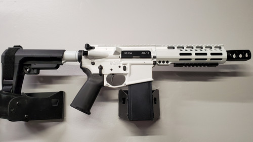 "7"" 50 cal AR Pistol Storm Trooper White"