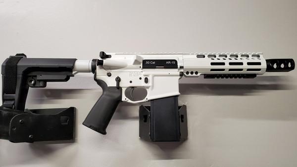 """7"""" 50 cal AR Pistol Storm Trooper White"""