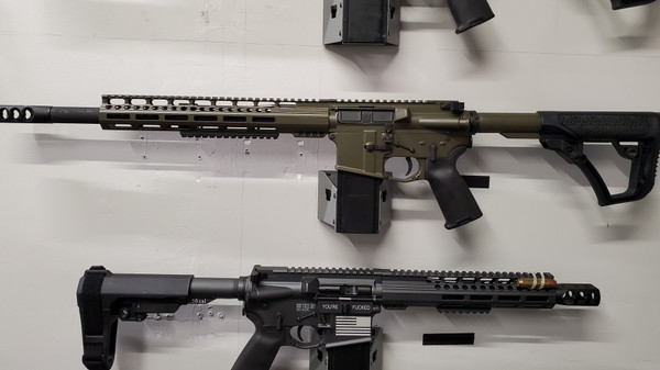 LEFT HANDED 50 CAL RIFLE