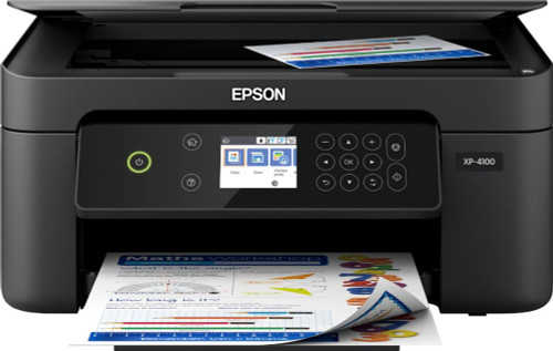 Epson - Expression Home XP-4100 Wireless All-In-One Inkjet Printer - Black