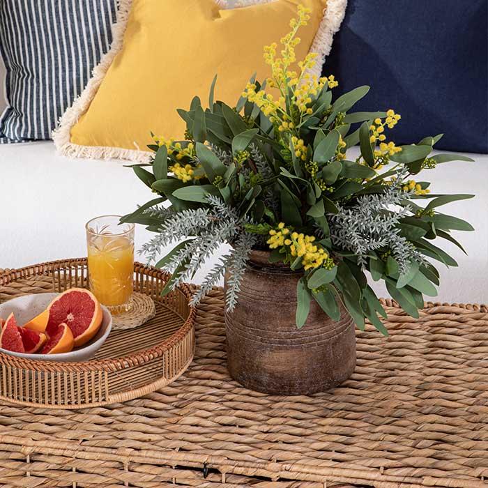 Mimosa stem, Native Leaf Willow Bouquet, Sandflower stem | Pillow Talk