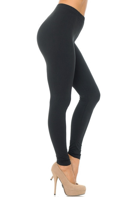 Basic Solid Leggings - EEVEE-os-charcoal