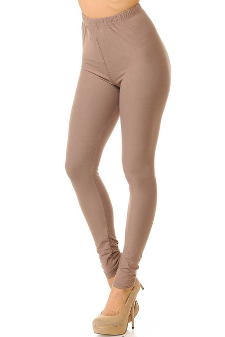 Basic Solid Leggings - New Mix-os-beige