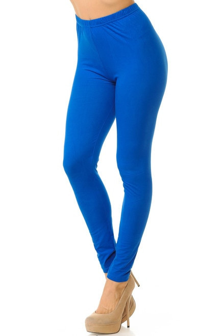 Basic Solid Leggings - New Mix-os-blue