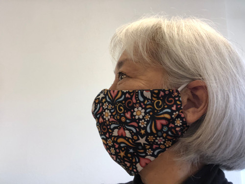 The 100% Quilters Cotton Mask is washable.   NOTE:  THIS MASK DOES HAVE A REAR POCKET FOR A PM2.5 FILTER  CLICK TO BUY PM2.5 FILTERS FOR THIS MASK
