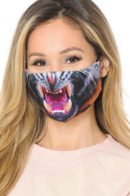TIGER TEETH poly/cotton FACE MASK