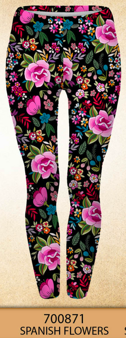 Spanish Flowers Plus Size