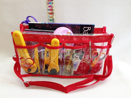 6 piece Red Handy Caddy Deluxe & Matching Tote