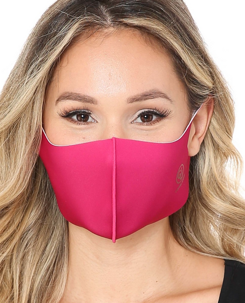 DUSTY ROSE PINK Copper Infused Face Mask