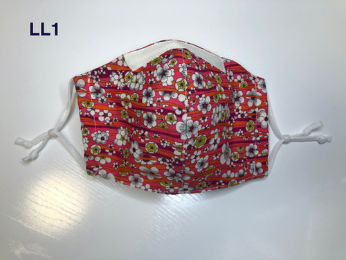 Olson Style, Liberty of London Mask - Red Pansies on Ivory print - Seen in Summer Short Version