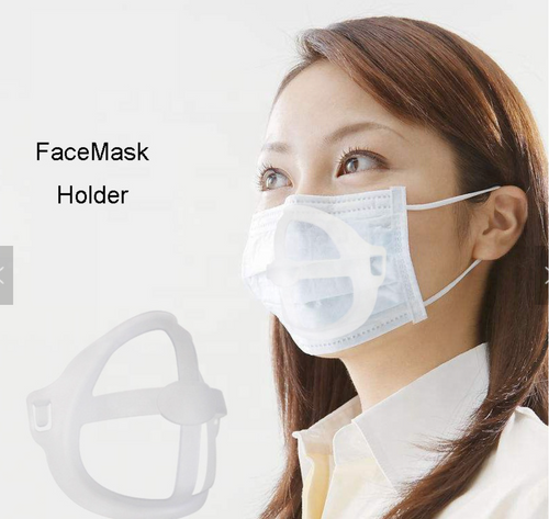GAME CHANGER! 5 Silicone Mask Frame Inserts. Makes space between mouth and fabric.