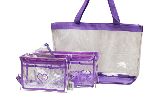 3 piece Purple Handy Caddy Deluxe, Handy Caddy Extra & Matching Tote