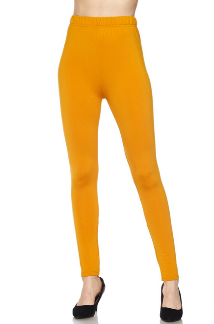 MUSTARD Premium Fleece Lined Leggings SIZE L/XL