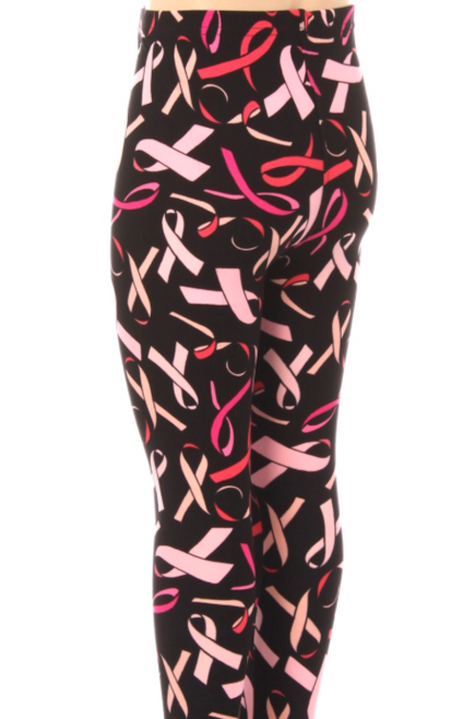 OS Breast Cancer Awareness Leggings One Size