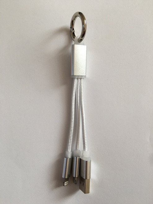 keychain in white