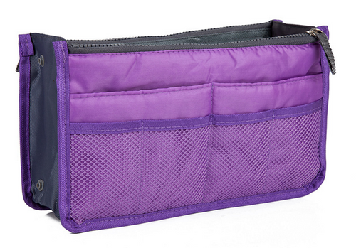 Purple Purse Organizer Lightweight 13 pockets!
