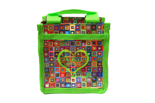 Green Square Pattern Kiddy Caddy
