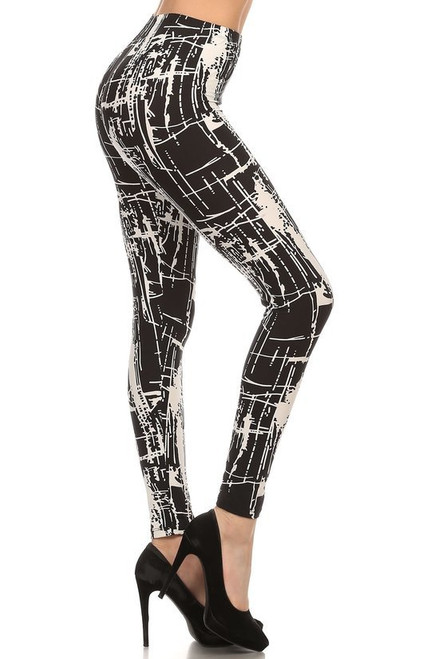 """* Imported * Fits Sizes 0 - 10 (Size 12 Depending on Body Type) * City Lights Styled Legging * Soft Luxurious Buttery Soft Milk Silk Fabric * 92% Polyester 8% Spandex * Model is wearing size ONE SIZE * Measurements are 32A x 24 x 34 and height is 5'7"""" (170.2 cm) * Hand Wash, Professional Cleaning"""