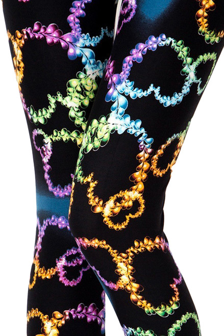 Ultra Soft Blooming Neon Hearts Leggings