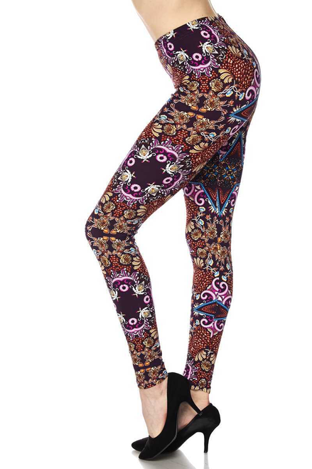 "Imported  Comfortably Fits Sizes 0 - 10 (12 depending on body type)  A Wonderful and Visually Alive Abstract Fabric Print  Buttery Soft Comfort Stretch Fabric  92% Polyester 8% Spandex  Model is wearing One Size  Measurements are 33C x 24 x 35 and height is 5' 7""  Machine Wash (Delicate) or Hand Wash"