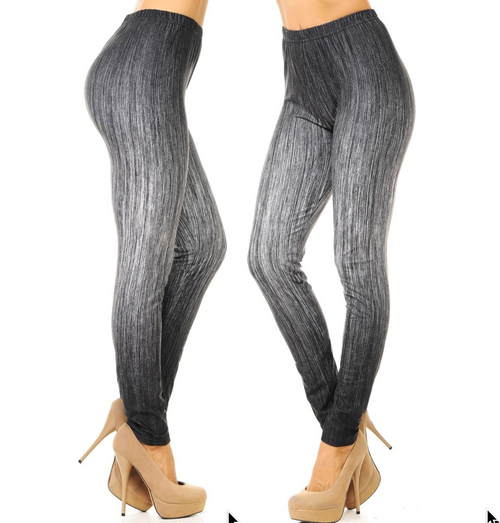 Creamy Soft Vintage Ombre Fade Leggings - One Size