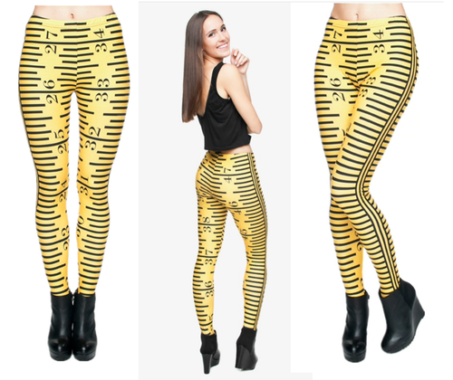 Ruler or Measuring Tape Leggings OS One Size