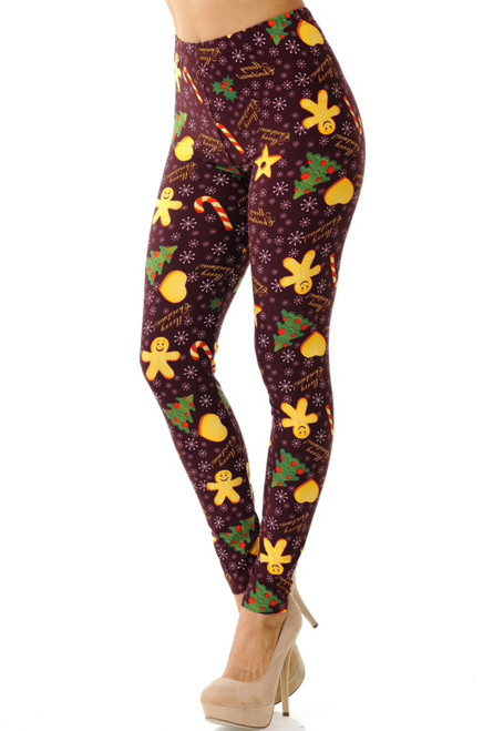 Merry Christmas Holiday Cookies Leggings
