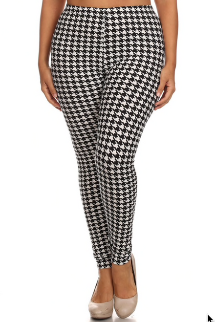 Houndstooth Plus Size