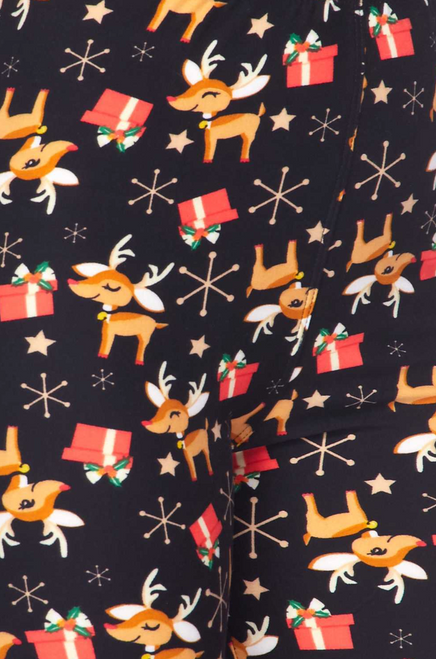 Imported A Cute as Can be Baby Reindeer and Presents Fabric Design Ultra Comfy Milk Silk Fabric Body Hugging Fit 92% Polyester 8% Spandex Hand Wash,  turn inside out, cold water wash, hang dry.