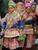Hmong 7 zippered wallet for ID, passport, smart phone, money, checks, credit cards,