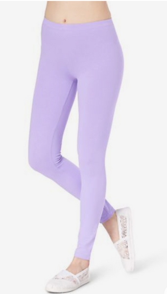 LAVENDER Buttery Soft Basic Solid Leggings ONE SIZE