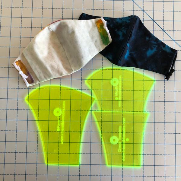 3 pieces  -  Olson Acrylic Masks Templates