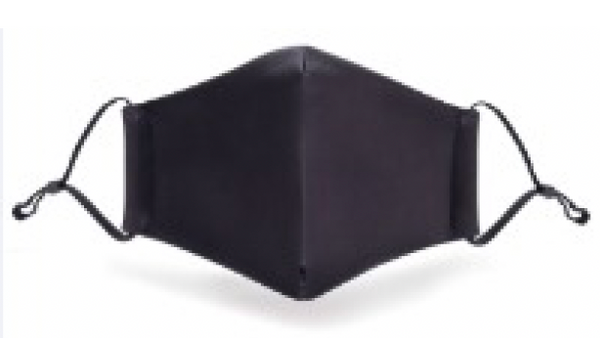 Black Poly/cotton Mask