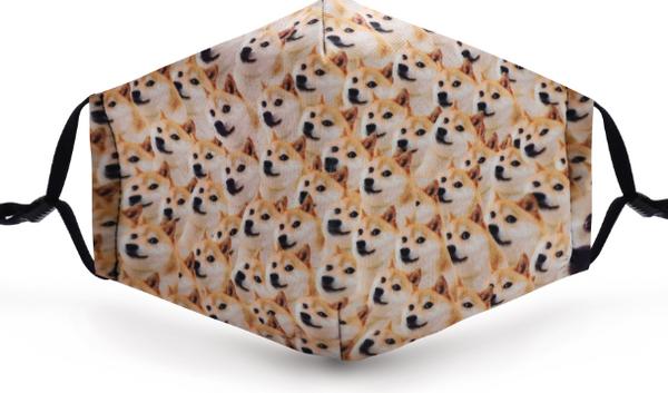 Shiba Imu Doggy Poly Cotton Mask with pocket filter