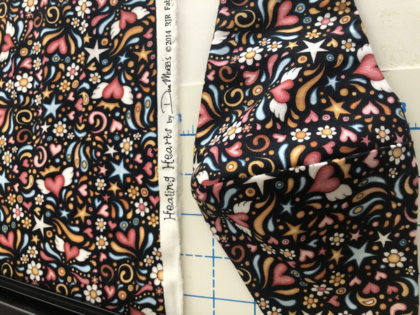 Healing Hearts 100% cotton  small print of hearts with wings. Limited stock.