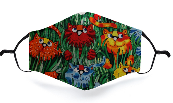 Cats in the Jungle, made just for Irresistible Masks