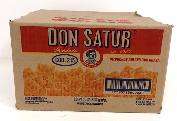 Don Satur Classic Sweet Biscuits Bizcochos Dulces Wholesale Bulk Box, 200 g / 7.1 oz ea (30 count per box)