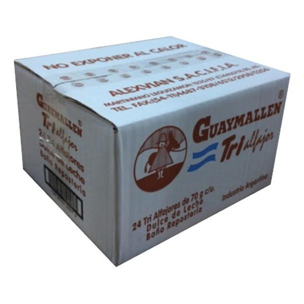 Guaymallen Triple Milk Chocolate Alfajor with Dulce de Leche Complete Wholesale Bulk Box, 70 g / 2.5 oz (24 count per box)