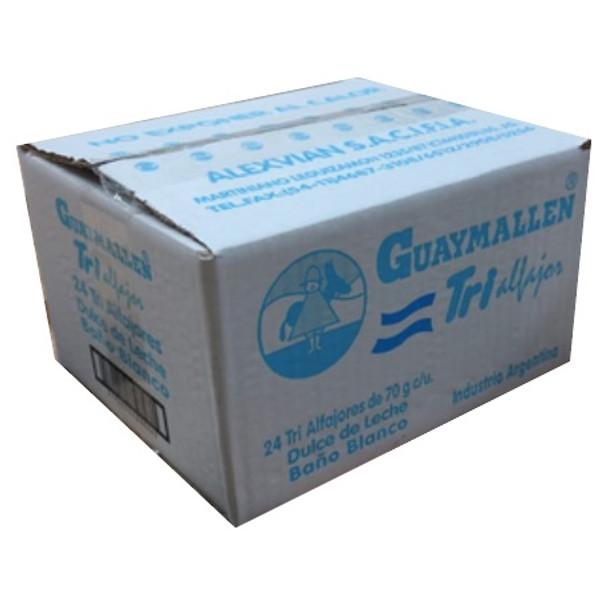 Guaymallen Triple White Chocolate Alfajor with Dulce de Leche Wholesale Bulk Box, 70 g / 2.5 oz (24 count per box)