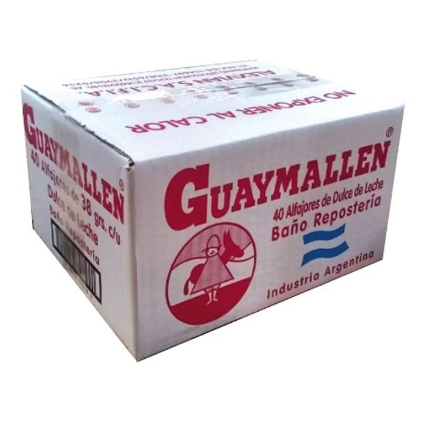 Guaymallen Alfajor Chocolate with Dulce de Leche Complete Wholesale Bulk Box, 38 g / 1.3 oz ea (40 count per box)