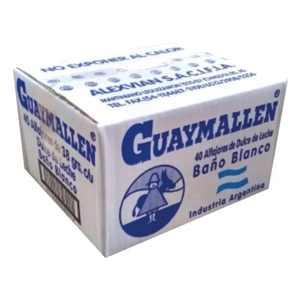 Guaymallen Alfajor White Chocolate with Dulce de Leche Complete Wholesale Bulk Box, 38 g / 1.3 oz ea (40 count per boz)